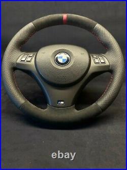 Bmw E82 E84 E87 E88 E90 E91 E92 E93 Alcantara Steering Wheel Refurbished Oem M