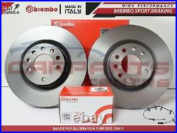 Bmw Mini One D Cooper + S Front Brembo Brake Discs And Pads + Wear Sensors -06