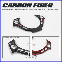 For Nissan GTR R35 Dry Carbon Fiber Inner Steering Wheel Switch Panel Parts