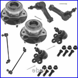 Front Wheel Bearing Ball Joint Tierod Kit for Torrent Equinox Saturn Vue Non ABS