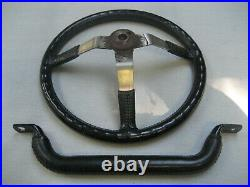 Jeep Steering Wheel & Grab Bar Scrambler Laredo CJ8 CJ5 CJ7 AMC Black Leather