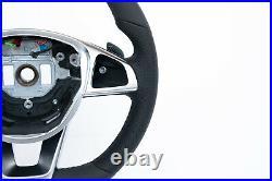 MERCEDES A B C E CLS GLC GLS S GT NEW NAPPA LEATHER FLAT BOTTOM AMG/SPORT vibro