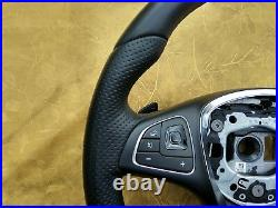 MERCEDES BENZ E W213 C238 COUPE A238 NAPPA LEATHER STEERING WHEEL shift paddles