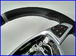 MERCEDES C W205 GLC X253 NEW NAPPA/ALCANTARA STEERING WHEEL AMG/SPORT flat GREY