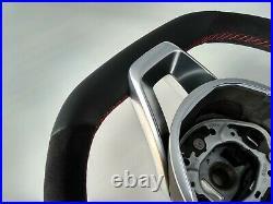 MERCEDES C W205 GLC X253 NEW NAPPA / ALCANTARA STEERING WHEEL RED AMG/SPORT flat
