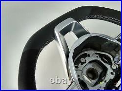 MERCEDES E W213 C238 A238 NEW NAPPA/ALCANTARA STEERING WHEEL GREY AMG/SPORT flat