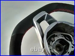 MERCEDES E W213 C238 A238 NEW NAPPA/ALCANTARA STEERING WHEEL RED AMG/SPORT flat