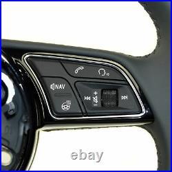 Multifunktion Sportlenkrad heizbar Audi A3 8V A4 8W B9 A5 F5 original Leder grau