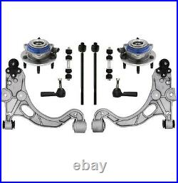 New Control Arm Ball Joints Sway Bars Tie Rod Ends Wheel Hub Bearing 10 Piece