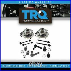 TRQ 12pc Steering Suspension Kit Wheel Bearings Tie Rods Ball Joints End Links