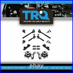 TRQ 14 pc Steering Suspension Kit Wheel Bearings Ball Joints Tie Rods End Links