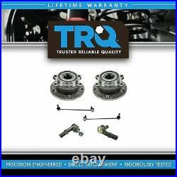 TRQ 6 Piece Steering Suspension Kit Wheel Hub Bearings Tie Rods Sway Bar Links