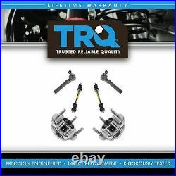 TRQ 6 pc Steering & Suspension Kit Wheel Bearing Assemblies Tie Rods End Links