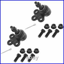 TRQ 8 pc Steering & Suspension Kit Wheel Hub & Bearings Tie Rods Ball Joints New
